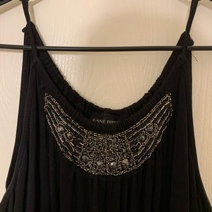 Lane Bryant black dress with embellished neckline